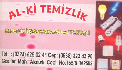 Al - Ki ELEKTR�K TEM�ZL�K