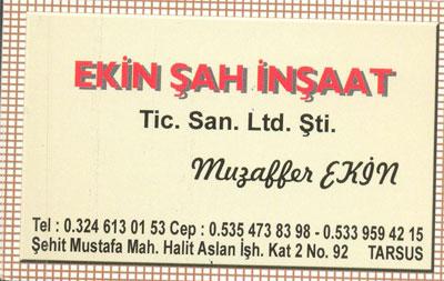 Ekin Şah İnşaat Tic. San. Ltd. Şti.