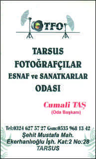 Tarsus Fotoğrafçılar Esnaf ve Sanatkarlar Odası